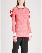 Zoe Jordan Ford cold-shoulder wool and cashmere-blend jumper