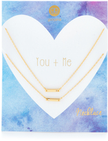 Gorjana You + Me Shimmer Bar Necklace
