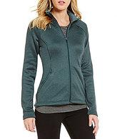 The North Face Agave Luxe Heathered Fleece Full-Zip Mock Neck Fleece Jacket