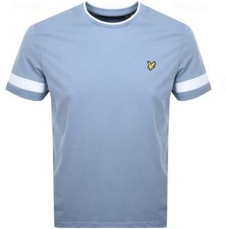 Lyle & Scott Tipped Crew Neck T Shirt Blue