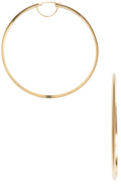 Candela 14K Yellow Gold Polished Knife Edge Hoop Earrings