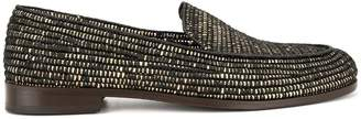 Casablanca woven pattern loafers