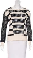 Rebecca Taylor Open Knit Scoop Neck Sweater