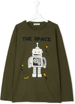Dondup Kids teen robot print long sleeve T-shirt