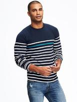 Old Navy Striped Crew-Neck Layering Tee for Men