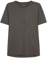 True Religion Grey Buddha-embroidered Cotton T-shirt