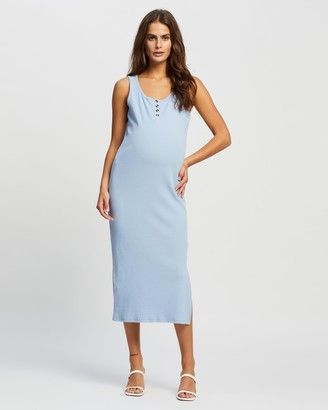 Cotton On Maternity - Women's Blue Midi Dresses - Maternity Henley Maxi Dress - Size S at The Iconic