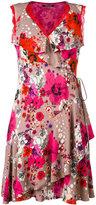 Roberto Cavalli floral print frill dress - women - Silk/Spandex/Elastane/Viscose - 42