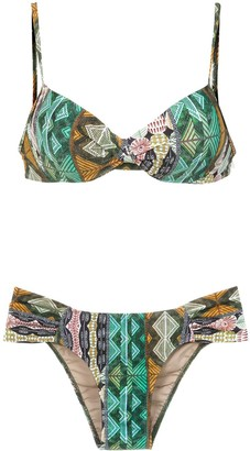 Lygia & Nanny Vitoria printed bikini set