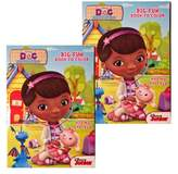 """Disney Doc Mcstuffins JR. (2 Pack) 96 Page Coloring and Activity Book """"Had My Checkup"""""""