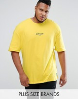 Sixth June PLUS Oversized T-Shirt In Yellow With Small Logo