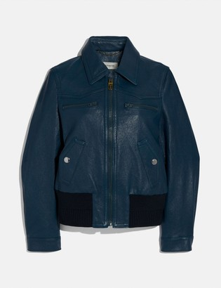 Coach Double Zip Leather Blouson