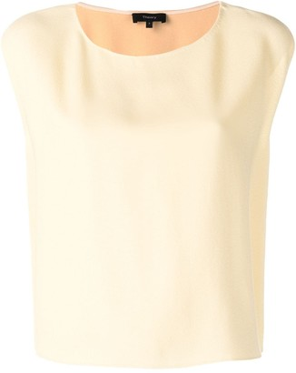 Theory Loose Fit Cap Sleeve Top