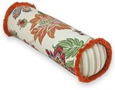Rose Tree Lisburn Fringed Jacobean Floral & Striped Neckroll Pillow