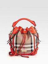 Burberry Penbury Small Mixed-Media Bucket Bag