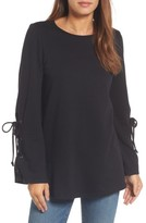 Halogen Women's Terry Tie Sleeve Tunic