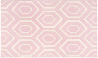 "One Kings Lane Ampara Dhurrie - Pink/Ivory - 2'6""x10'"