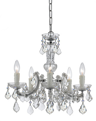 Swarovski Crystorama Maria Theresa 5-Light Chrome Mini Chandelier