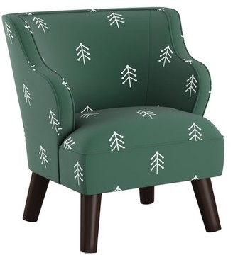 Skyline Furniture Kids Modern Chair in Line Tree Evergreen