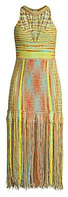M Missoni Women's Fringe Sleeveless Midi Dress