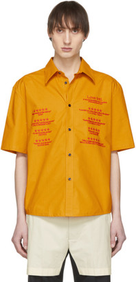 Chin Mens Yellow Love Intl. Short Sleeve Shirt