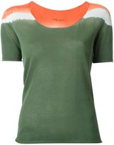 Roberto Collina tri-tone shortsleeved knit T-shirt - women - Cotton - XS