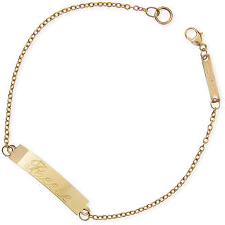 Chicco Zoe 14k Personalized Gold ID Bracelet