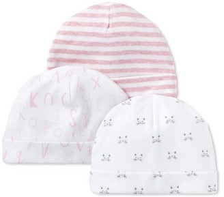 Lamaze Baby Girl Caps, 3-Pack
