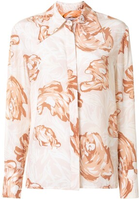 Karen Walker Blossom floral-print silk shirt
