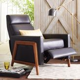 west elm Spencer Wood Framed Leather Recliner