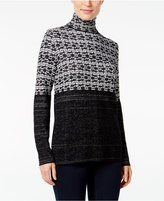 Style&Co. Style & Co. Jacquard Turtleneck Sweater, Only at Macy's