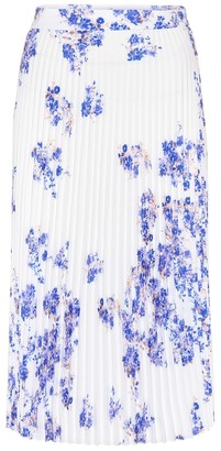 Vetements Floral pleated crepe skirt