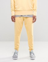 Asos Skinny Joggers In Yellow