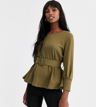 Y.A.S Tall Avilla 3/4 sleeve tie front top