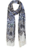 Topshop Feather border scarf