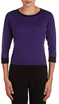 Allison Daley Wide Crew Neck 3/4 Sleeve Pullover Sweater