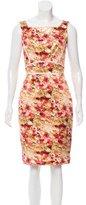 Zac Posen Sleeveless Floral Print Dress