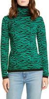 Victor Glemaud Tiger Stripe Turtleneck Wool Sweater