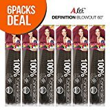 """ISIS Synthetic 100% Kanekalon Braid A Fri-Naptural Definition Blow Out 60"""" (6-Pack, 2)"""