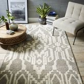 west elm Signet Wool Rug - Heather Gray