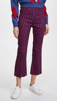 Alice + Olivia Michiko Pintuck Flared Pants
