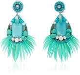 Ranjana Khan Embellished Turquoise Earrings