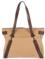 Tod's Leather-Trimmed Tote Bag