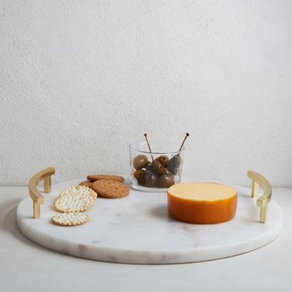 west elm Marble & Brass Round Cheese Board