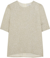 Lanvin Silk-blend Lamé Top - Gold
