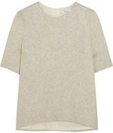 Lanvin Silk-blend Textured-lamé Top - Gold