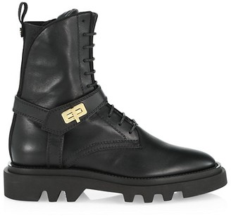 Givenchy Eden Lug-Sole Leather Combat Boots