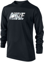 Nike Boys' Long-Sleeve Graphic-Print Shirt