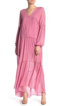 Young Fabulous & Broke Josette Long Sleeve Tiered Maxi Dress