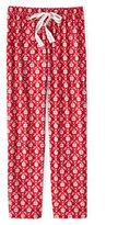 Classic Women's Petite Print Flannel Pants-Ivory Multi Dots